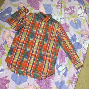 EUC Ralph Lauren bottom down Women's shirt colored